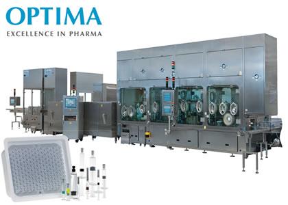 シリンジ及びバイアル充填ライン(OPTIMA pharma GmbH)