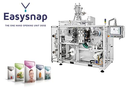 液体用カード型ポーションパウチ包装装置(EasySnap社)