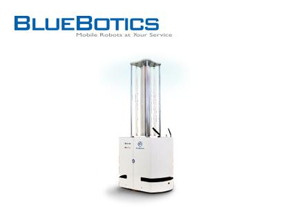 自律走行型紫外線(UV-C)照射ロボット(BlueBotics社)