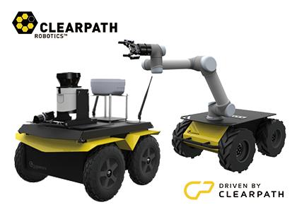 無人自律走行車両(Clearpath Robotics社)